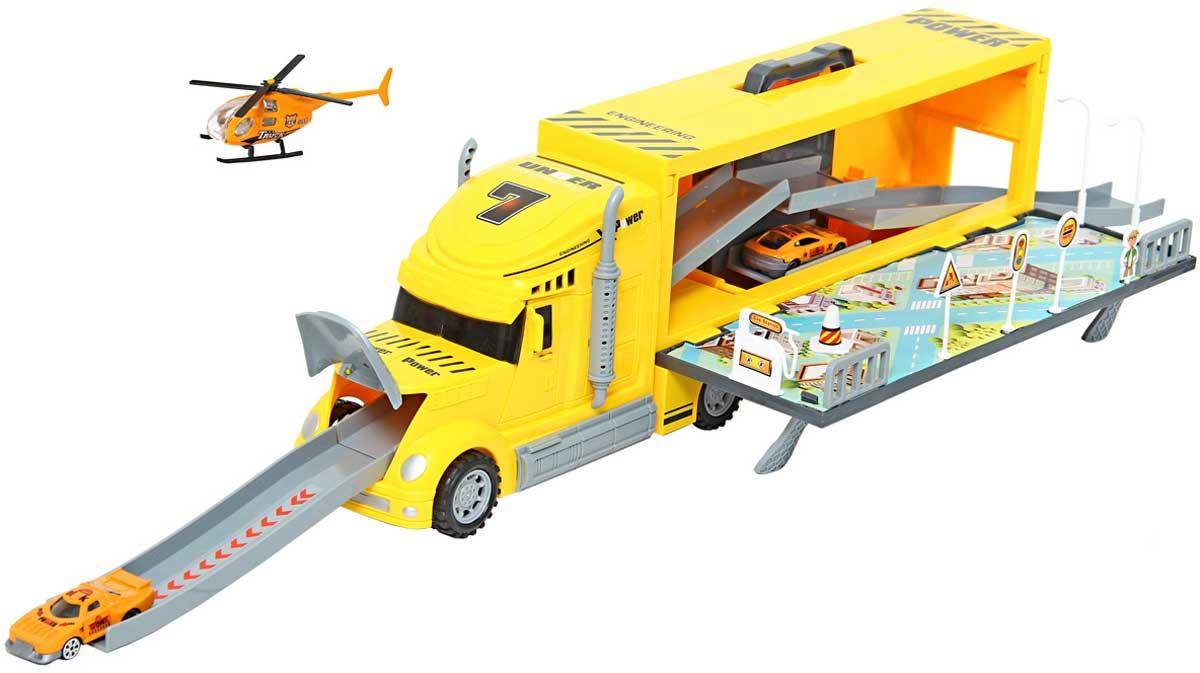 Drift Автотрейлер с машинами Парковка цвет желтый автотрейлер с машинами на радиоуправлении zhorya х75415