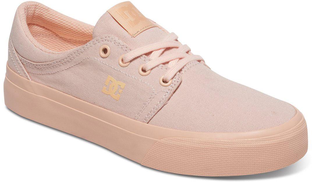 Кеды женские DC Shoes Trase TX, цвет: светло-розовый. ADJS300078-PEC. Размер 6B (37)ADJS300078-PECСтильные женские кеды DC Shoes Trase TX - отличный вариант на каждый день.Модель выполнена из текстиля. Шнуровка надежно фиксирует обувь на ноге. Резиновая подошва с протектором гарантирует отличное сцепление с поверхностью. В таких кедах вашим ногам будет комфортно и уютно.