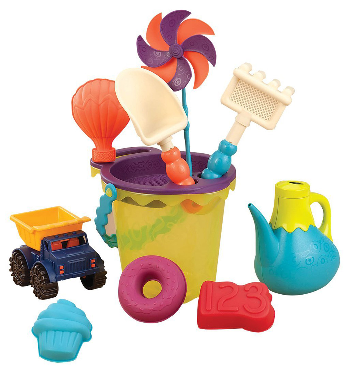 B.Summer Набор для песка Ready Beach Bag цвет зеленый 12 предметов - Игры на открытом воздухе