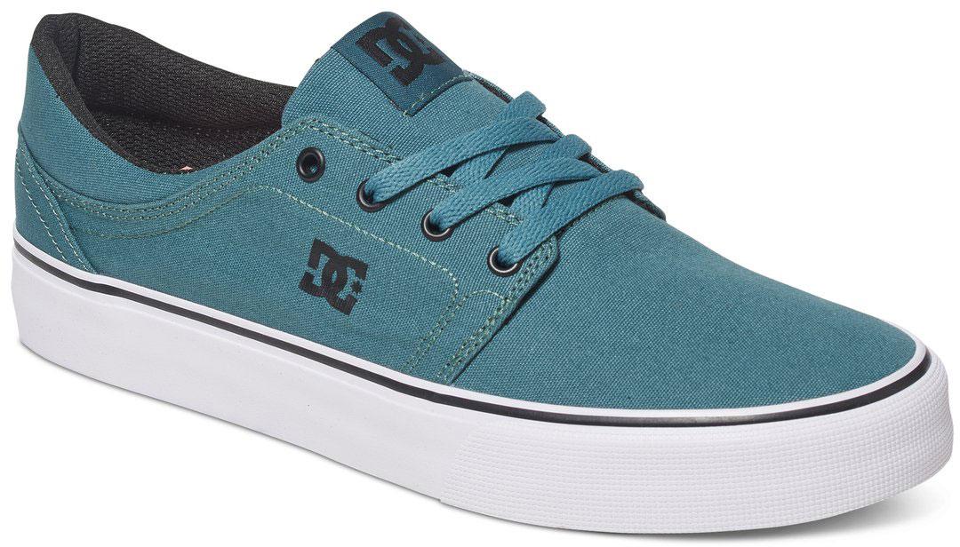 Кеды мужские DC Shoes Trase TX, цвет: зеленый. ADYS300126-SEA. Размер 8,5D (42)ADYS300126-SEAСтильные мужские кеды DC Shoes Trase TX - отличный вариант на каждый день.Модель выполнена из текстиля. Шнуровка надежно фиксирует обувь на ноге. Резиновая подошва с протектором гарантирует отличное сцепление с поверхностью. В таких кедах вашим ногам будет комфортно и уютно.