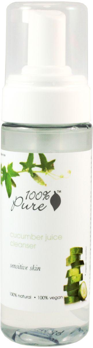 100% Pure Очищающая пенка для лица огуречный сок для чувствительной кожи 177 мл1FCCJПенка для умывания на основе огуречного сока успокаивает и увлажняет кожу. Гидрозоль розы, зеленый чай и календула идеально подходят для чувствительной кожи.