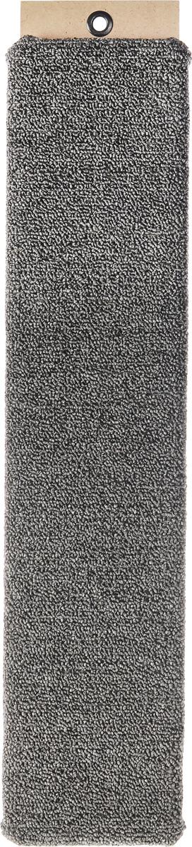Когтеточка Меридиан, настенная, цвет: серый, 60 х 12,5 х 3 см когтеточка столбик beeztees lesley цвет серый 35 х 35 х 60 см