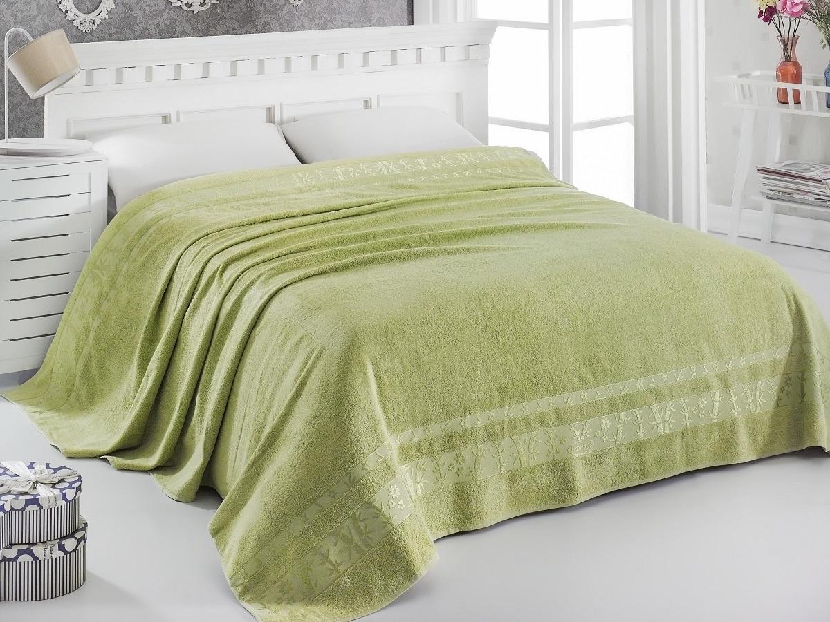 """Простыня Karna """"Pupilla. Elit"""", цвет: зеленый, 200 x 220 см"""