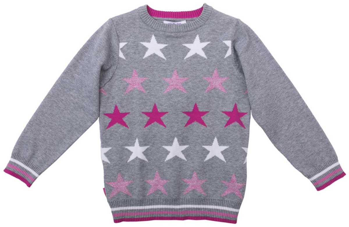 Джемпер для девочки PlayToday, цвет: серый, розовый, светло-розовый, белый. 172058. Размер 104172058Джемпер с округлым вырезом прекрасно подойдет для прохладной погоды. Натуральная ткань приятна к телу и не сковывает движений ребенка. Мягкие резинки на манжетах, горловине и по низу изделия. Материал изделия изготовлен методом yarn dyed - в процессе производства в полотне используются разного цвета нити. Тем самым изделие, при рекомендуемом уходе, не линяет и надолго остается в прежнем виде, это определенный знак качества.
