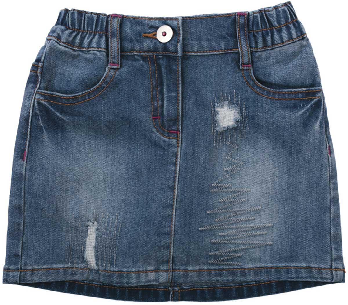 Юбка для девочки PlayToday, цвет: синий. 172062. Размер 116172062Яркая стильная юбка PlayToday станет хорошим дополнением детского гардероба. Юбка на резинке, мягкая ткань не сковывает движений ребенка. Материал приятен к телу и не вызывает раздражений.
