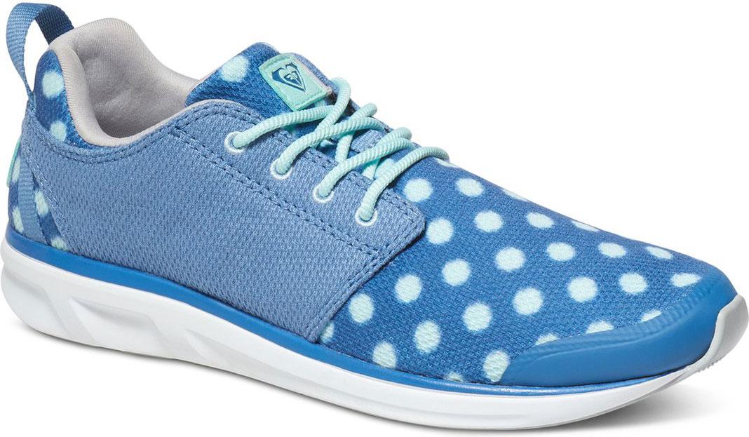Кроссовки женские Roxy Halcyon, цвет: голубой, белый. ARJS700116-BLU. Размер 6 (35)ARJS700116-BLUМодные женские кроссовки Halcyon от Roxy выполнены из текстиля. Мыс модели защищен бесшовной накладкой из ПВХ. Подкладка и стелька из текстиля комфортны при движении. Шнуровка надежно зафиксирует модель на ноге. Подошва дополнена рифлением.