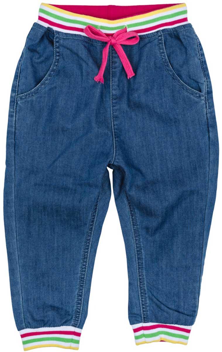 Джинсы для девочки PlayToday, цвет: голубой. 172169. Размер 122 брюки джинсы и штанишки playtoday джинсы для девочки фруктовый лед 172169