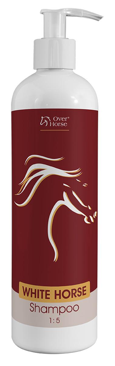 Шампунь для лошадей Over Horse  White Horse Shampoo , для светлой масти, 400 мл - Средства для ухода и гигиены