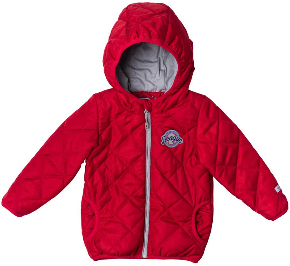 Куртка для мальчика PlayToday, цвет: красный. 177003. Размер 74177003Утепленная стеганая куртка - прекрасное решение для прохладной погоды. Мягкие трикотажные резинки на рукавах защитят вашего ребенка - ветер не сможет проникнуть под куртку. Специальный карман для фиксации застежки-молнии не позволит застежке травмировать нежную детскую кожу. Мягкая резинка на капюшоне не позволит ему упасть с головы вашего ребенка даже во время активных игр. Модель снабжена светоотражателями на рукаве и по низу изделия - ваш ребенок будет виден даже в темное время суток.