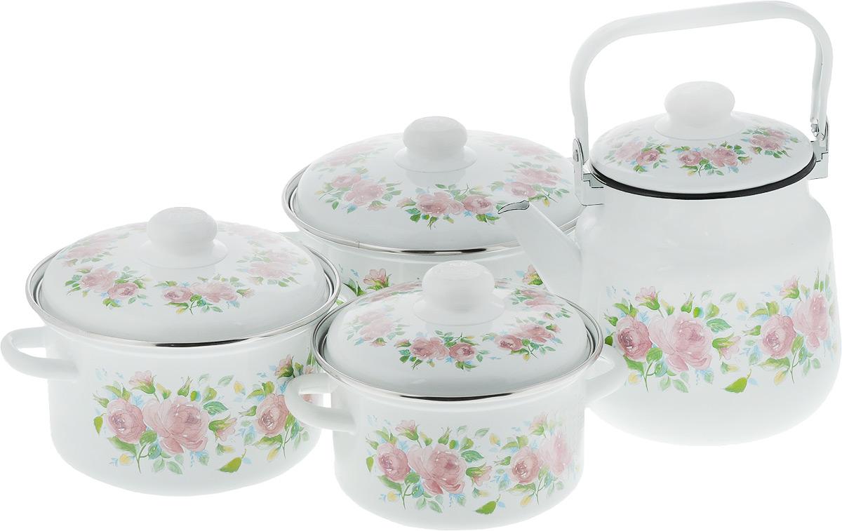Набор посуды Эмаль Элеонора, 7 предметов набор посуды эмаль элеонора 7 предметов