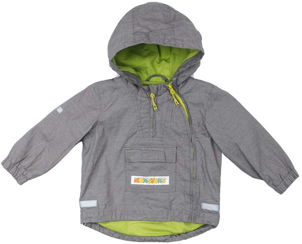 Ветровка для мальчика PlayToday, цвет: серый, светло-зеленый. 177051. Размер 92177051Ветровка из натурального хлопка с заниженной спинкой на подкладке из натуральных материалов прекрасно подойдет для прогулок в прохладную погоду. Модель со светоотражателями - ваш ребенок будет виден в темное время суток. На ветровк две застежки молнии. Одна расположена - на полочке, в районе груди. Ее можно расстегнуть, не боясь простудить ребенка. Вторая застежка - молния, с помощью которой изделие можно снимать и одевать, расположена ассиметрично. Специальный карман для застежек - молний не позволит застежкам травмировать нежную кожу ребенка. Модель декорирована большим удобным карманом.