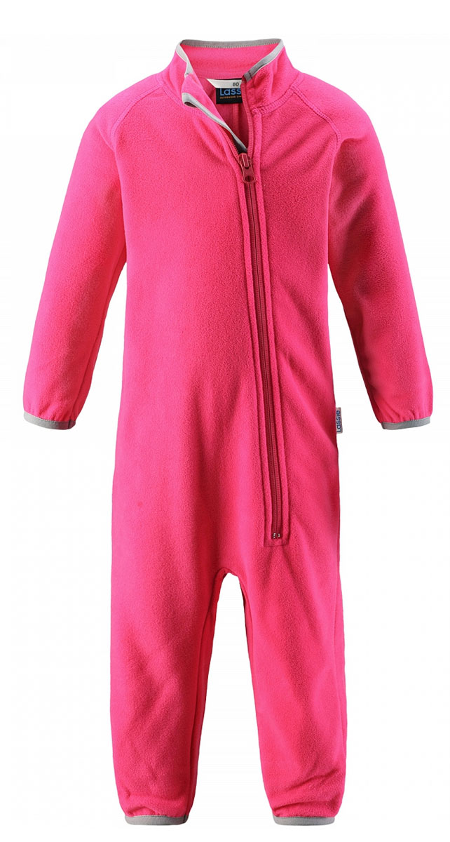 Комбинезон флисовый детский Lassie, цвет: розовый. 7167003400. Размер 68