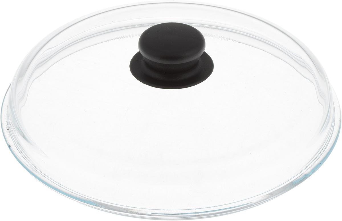 """Жаропрочная крышка """"VGP"""", выполненная из закаленноготермостойкого стекла, оснащена удобной пластиковой ручкой, которая не скользит в руке иостается холодной во время приготовления блюд. Подходит для кастрюль,сотейников и сковород. Прозрачная крышка позволяет полностьюконтролировать процесс приготовления без потеритепла, а паровыпускной клапан исключает риск ожогов иизбыточного давления под крышкой.Можно мыть в посудомоечной машине."""