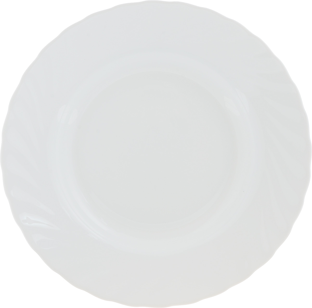 Тарелка суповая Luminarc Trianon White, диаметр 22 см61260Суповая тарелка Luminarc Trianon White, выполненная из высококачественной стеклокерамики, оформлена в классическом стиле. Изящный дизайн придется по вкусу и ценителям классики, и тем, кто предпочитает утонченность. Тарелка Chinbull идеально подойдет для сервировки стола и станет отличным подарком к любому празднику.Диаметр (по верхнему краю): 22 см.Высота стенки: 6 см.