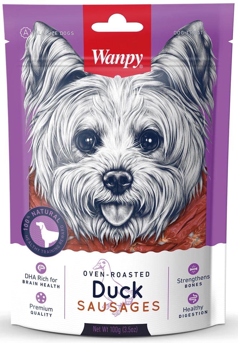 Лакомство для собак Wanpy Dog, утиные сосиски, 100 г кислотные красители в алматы