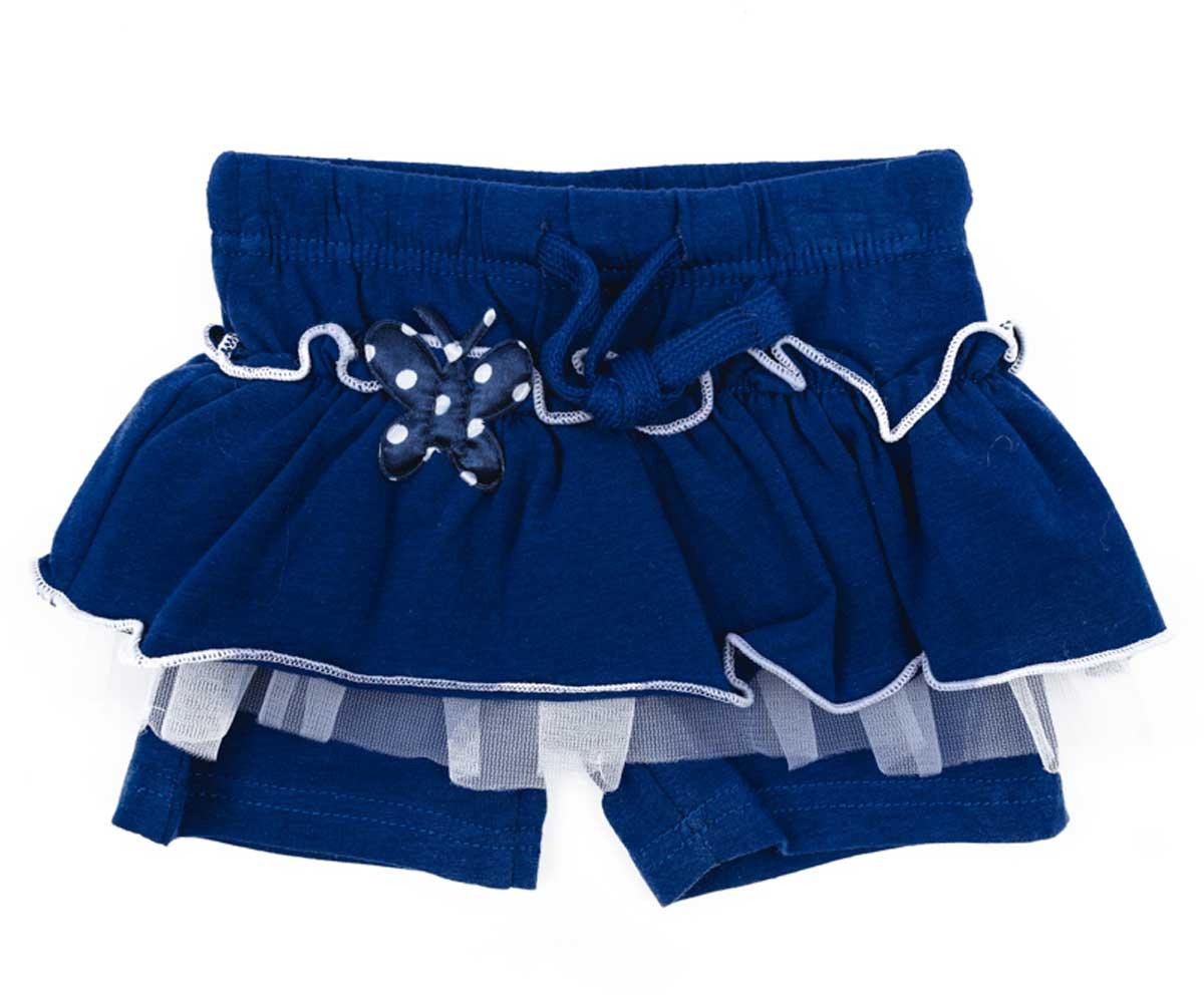 Юбка для девочки PlayToday, цвет: темно-синий, белый. 178076. Размер 74