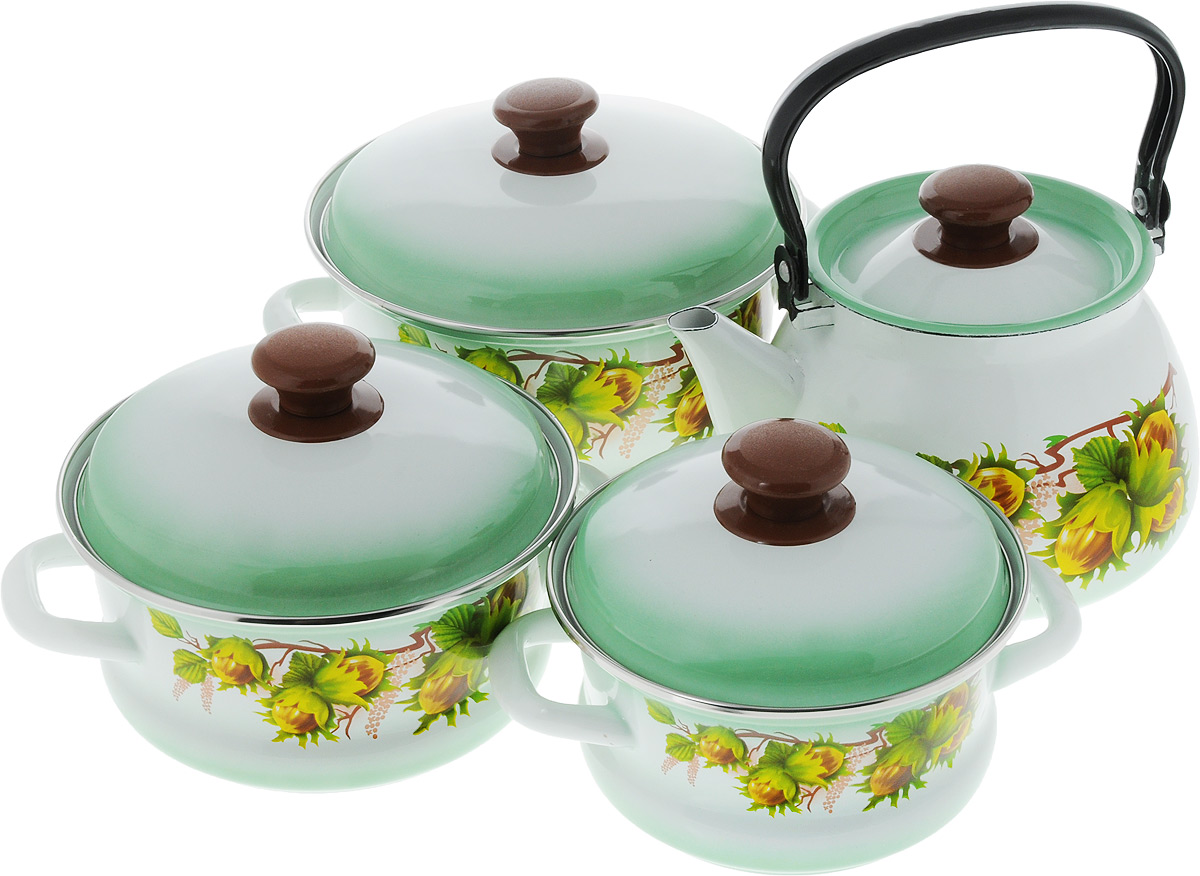 Набор посуды КМК  Орешек , 7 предметов - Посуда для приготовления