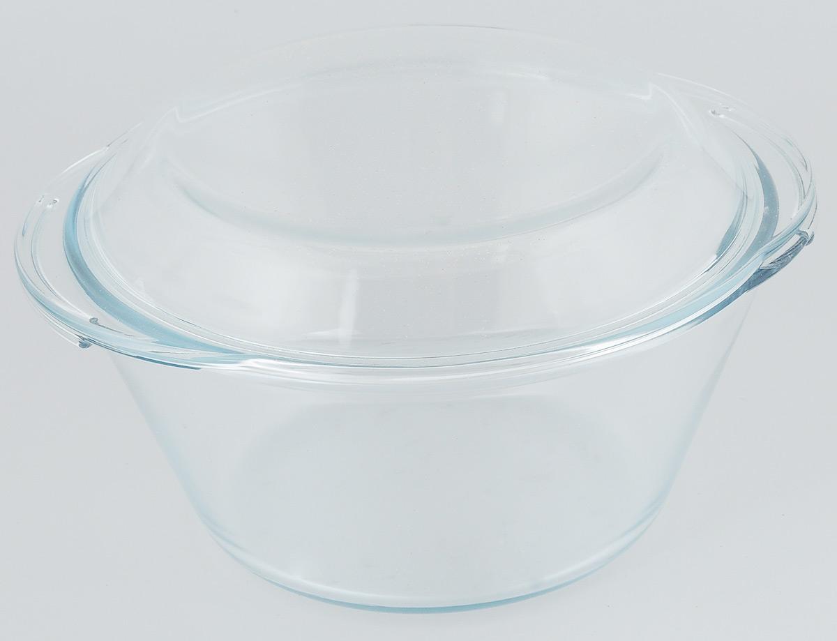 """Кастрюля VGP """"Premium Quality"""" выполнена из жаропрочного стекла и оснащена крышкой. Предназначена для приготовления, хранения, разогрева пищи, а также для сервировки стола. Благодаря низкой теплопроводности, приготовленные блюда долго не остывают, при этом посуда обладает отличными гигиеническими качествами. Пригодна для использования в духовом шкафу, микроволновой печи, холодильной и морозильной камерах. Можно мыть в посудомоечной машине.Диаметр кастрюли (по верхнему краю): 22 см.Высота стенки: 10,5 см.Ширина (с учетом ручек): 24,5 см."""