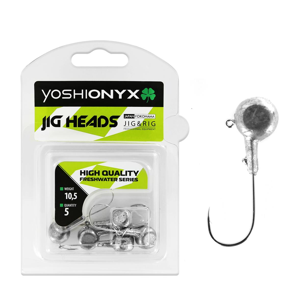 Джиг-головка Yoshi Onyx JIG Bros. Аспирин, крючок Gamakatsu, 10,5 г, 5 шт96526Джиг-головки Yoshi Onyx JIG Bros. Аспирин предназначены для ловли хищной рыбы, с использованием самых разных вариантов проводок на мягкие приманки. Это может быть и ступенчатая проводка по дну, и волнообразная в толще воды, и даже обычная ровная проводка. Джиг-головки оснащены крючками Gamakatsu. Такие крючки прекрасно пробивает жесткую пасть крупного судака, щуки и сома.