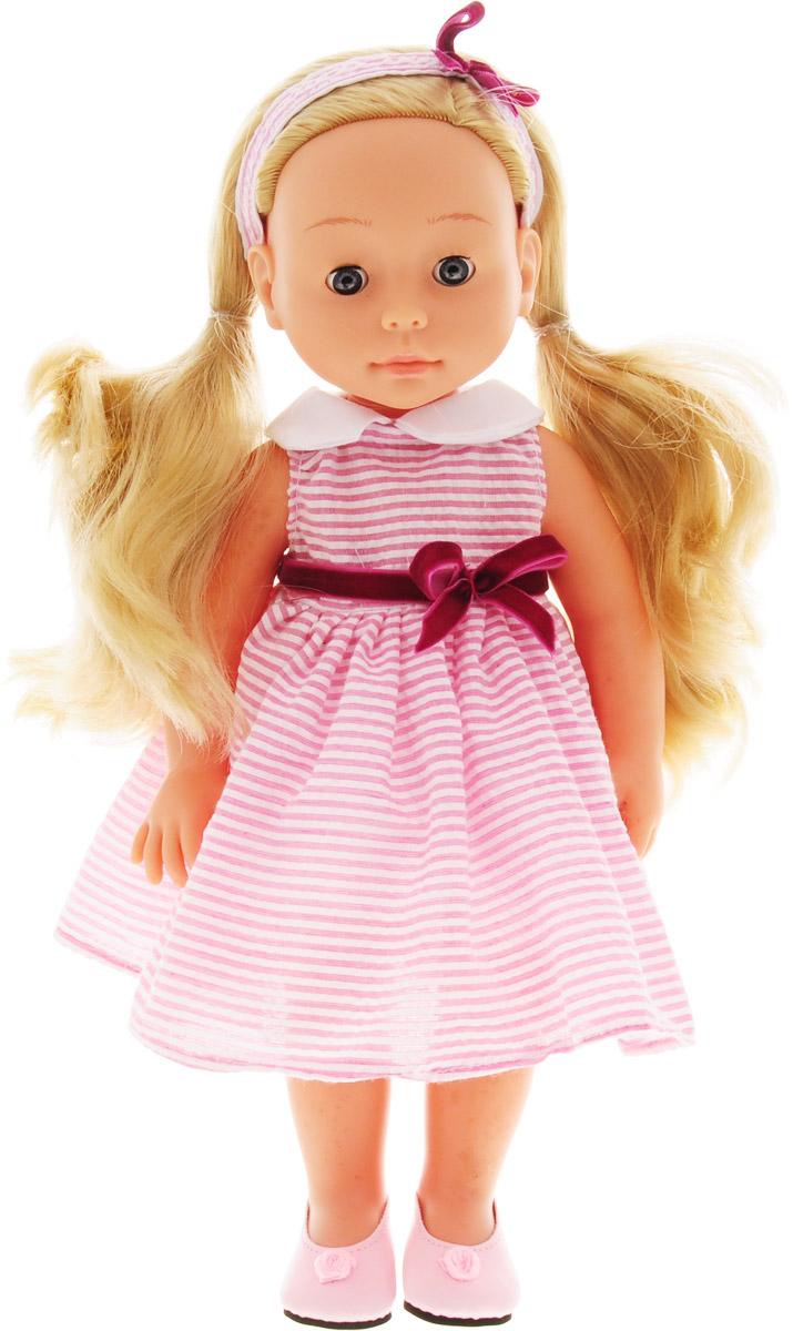 Bambolina Кукла Boutique цвет одежды розовый в полоску 40 см bambolina кукла boutique цвет одежды розовый 40 см