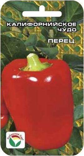 Семена Сибирский сад Перец. Калифорнийское чудо, 15 штBP-00000340Популярный во всем мире среднеспелый крупноплодный сорт. От всходов до технической спелости 100-120 дней. Отличается высокой урожайностью, привлекательным внешним видом, хорошими вкусовыми и товарными качествами. Растение среднерослое, высотой 60-75 см. Плоды кубовидной формы, очень крупные, массой до 160 г, с толщиной стенок до 7 мм. Окраска насыщенно-красная, яркая. Сладкий, с сильным перечным ароматом, великолепно подходит для приготовления салатов и фаршировки. Урожайность достигает 8-10 кг с 1 м2. Устойчив к вирусу табачной мозаики. Посев на рассаду производят за 60-70 дней до высадки растений на постоянное место. Оптимальная постоянная температура прорастания семян 26-28°С. При высадке в грунт на 1 м2 размещают до 5-6 растений. Сорт хорошо реагирует на полив и подкормки комплексными минеральными удобрениями. Для ускорения процесса всхожести семян, оздоровления растений, улучшения завязываемости плодов рекомендуется пользоваться специально разработанными стимуляторами роста и развития растений.