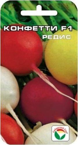 Семена Сибирский сад Редис. Конфетти, 2 гBP-00000383Оригинальная гибридная форма редиса алтайских селекционеров с разноцветными корнеплодами. Созревание корнеплодов начинается с возраста растений 18 дней и продолжается до 35 дней. При этом увеличивается урожайность и формируется корнеплоды высокого качества. Плоды округлой формы, разноцветные по окраске: белые, красные, фиолетовые, желтые. Мякоть белая, плотная, сочная, не пустеет. Пригоден для выращивания в открытом и и защищенном грунте в разные сроки посева: ранневесенние, летние, осенние. Для ускорения процесса всхожести семян, оздоровления растений, улучшения завязываемости плодов рекомендуется использовать специально разработанные стимуляторы роста и развития растений.Вес: 2 г.