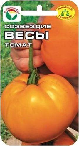Семена Сибирский сад Томат. Весы, 20 штBP-00000472Весы - знак сбалансированности, умеренности и гармонии. С точки зрения здоровья им вредны кислоты, уксус, цитрусовые. Предлагаемый сорт с крупными желтыми плодами не только эстетически красив, но и максимально соответствует диетическим требованиям благодаря низкому содержанию кислот.Урожайный среднеранний сорт для закрытого грунта. Куст высотой более 1,5 м. формирует до 5 кистей с крупными оранжево-желтыми плодами массой до 700 г. Плоды мясистые, салатного назначения, рекомендуются для детского и диетического питания. Мякоть и стенки томатов плотные, что обеспечивает хорошую лежкость плодов и устойчивость к гниению. Урожайность сорта - до 10 кг с 1 м2. При сухости в теплице могут опадать завязи. Посев на рассаду производят за 50-60 дней до высадки растений на постоянное место. Оптимальная постоянная температура прорастания семян 23-25°С. При высадке в грунт на 1 м2 размещают 3 растения. Сорт хорошо реагирует на полив и подкормки комплексными минеральными удобрениями. Выращивают в 1-2 стебля с подвязкой к опоре. Для ускорения процесса всхожести семян, оздоровления растений, улучшения завязываемости плодов рекомендуется пользоваться специально разработанными стимуляторами роста и развития растений.