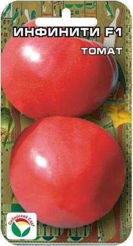 Семена Сибирский сад Томат. Инфинити, 15 штBP-00000523Раннеспелый (95-100 дней), крупноплодный гибрид для пленочных теплиц иоткрытого грунта. Растение средневетвистое, высотой до 1,7 м, первое соцветиезакладывается над 5-7 листом, последующие через 1-2 листа, в кисти по 5-6плодов. Плоды округлой формы, гладкие, плотные, без зеленого пятна уоснования, массой до 300 г. Отличается раннеспелостью и дружным созреваниемплодов. Вкусовые качества великолепные. Жаро- и стрессоустойчив, нетрескается, транспортабельность плодов очень высокая. Урожайность до 17 кг с 1м2. Посев на рассаду производят за 50-60 дней до высадки растений на постоянноеместо. Оптимальная постоянная температура прорастания семян 23-25°С. Привысадке в грунт на 1 м2 размещают 3 растения. Гибрид отзывчив на внесениеудобрений и технологию возделывания. Выращивается в 1-2 стебля с подвязкой ипасынкованием.