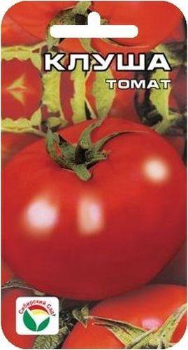 Семена Сибирский сад Томат. Клуша, 20 штBP-00000542Среднеранний низкорослый сорт для открытого грунта. Куст штамбовый, устойчивый, высотой до 50 см, не требует пасынкования, в рассаде не вытягивается. Плоды красные, округлые, массой до 150 г. Интересная особенность сорта - урожай спрятан под листьями в глубине куста. Плоды универсального назначения, вкусны как в свежем, так и в консервированном виде. Посев на рассаду производят за 50-60 дней до высадки растений на постоянное место. Оптимальная постоянная температура прорастания семян 23-25°С. При высадке в грунт на 1 м2 размещают до 5 растений. Сорт хорошо реагирует на полив и подкормки комплексными минеральными удобрениями. Для ускорения процесса всхожести семян, оздоровления растений, улучшения завязываемости плодов рекомендуется пользоваться специально разработанными стимуляторами роста и развития растений.