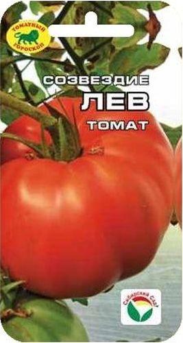 Семена Сибирский сад Томат. Созвездие ЛевBP-00000561ЛЕВ - король гороскопа, жизнелюб, который не отказывает себе в удовольствиях. Ему - самый мощный, красивый и крупноплодный сорт.Среднепоздний сорт с плодами - гигантами огненно-красного цвета массой 400-600 (до 800 грамм). Растение индетерминантное, высотой более 1,5 м, рекомендуется для выращивания в пленочных и остекленных теплицах. Плоды плоско-округлые, слабо-ребристые, очень плотные, хорошо дозревают. Обладает отличными вкусовыми качествами и высокой урожайностью (до 9 кг с 1 кв. м).Посев на рассаду производят за 50-60 дней до высадки растений на постоянное место. Оптимальная постоянная температура прорастания семян 23-25СС. При высадке в фунт на 1 кв. м. размещают 3 растения. Сорт хорошо реагирует на полив и подкормки комплексными минеральными удобрениями. Выращивается в один стебель с подвязкой и пасынкованием.Для ускорения процесса всхожести семян, оздоровления растений, улучшения завязываемости плодов рекомендуется пользоваться специально разработанными стимуляторами роста и развития растений. Количество семян: 20 шт