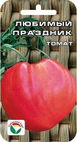 Семена Сибирский сад Томат. Любимый праздник, 20 штBP-00000Среднеспелый детерминантный сорт сибирской селекции с особо крупными плодами. Растение мощное, высотой 80 см. Плоды почковидной формы, густо-розового цвета, огромного размера, массой 900-1300 г. Прекрасно подходят для потребления в свежем виде и зимних заготовок. Сорт характеризуется стабильно высокими урожаями в независимости от погодных условий. При высадке в грунт на 1 м2 высаживается 3 растения. Выращивается в 2-3 стебля с подвязкой.