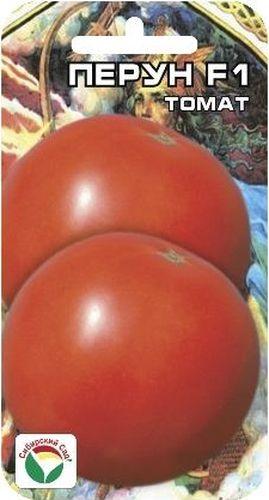 Семена Сибирский сад Томат. Перун F1BP-00000603Ранний мощный высокорослый гибрид для защищенного грунта. Растение среднеоблиственное, высотой 170-180см. Кисть простая, с 6-8 плодами, на растении формируется 10-11 кистей. Плоды интенсивно-красной окраски, округлые, красные, плотные, массой 250-300 грамм, сочетающие прекрасные вкусовые качества с высокой товарностью и транспортабильностью.