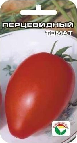 Семена Сибирский сад Томат. Перцевидный, 20 штBP-00000605Популярный сорт с мясистыми и сладкими плодами перцевидной формы,красного цвета, массой 80-100 г. Плоды практически не содержат жидкости имало семян. Сорт универсального назначения, очень урожайный, среднеспелый.Растение индетерминантное, соцветие простое и промежуточного типа, первоесоцветие над 9 листом, последующие через 3 листа. Плод ярко-красный,цилиндрический со сбегом, слаборебристый, массой до 100 грамм. Вкусовыекачества томатов очень хороши, плоды используются для приготовлениясвежих салатов, засола и консервирования, пригодны для фарширования.Товарная урожайность 6-6,5 кг с 1 м2. Сорт рекомендуется для выращивания воткрытом и защищенном грунте. Посев на рассаду производят за 50-60 дней до высадки растений на постоянноеместо. Оптимальная постоянная температура прорастания семян 23-25°С. Привысадке в грунт на 1 м2 размещают 3 растения. Требует пасынкования иподвязки. Сорт хорошо реагирует на полив и подкормки комплекснымиминеральными удобрениями. Для ускорения процесса всхожести семян, оздоровления растений, улучшениязавязываемости плодов рекомендуется пользоваться специальноразработанными стимуляторами роста и развития растений.
