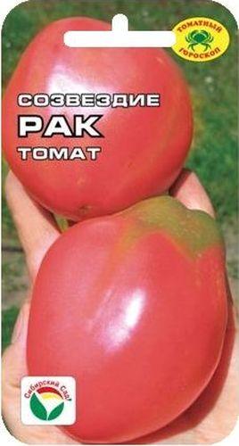 Семена Сибирский сад Томат. РакBP-00000619Среднеранний розовоплодный сорт семян томата Сибирский сад Томат. Рак. Растение индетерминантное, высотой более 1,2 м., формирует до 6 кистей с 4-6 крупными плодами оригинальной удлиненно-грушевидной формы массой 200-300 гр. Томаты гладкие, глянцевые, интенсивно-розового цвета с жемчужным муаром, очень вкусные.