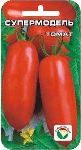 Семена Сибирский сад Томат. Супермодель, 20 штBP-00000679Среднеранний сорт алтайской селекции для открытого грунта, с плодами удлиненной формы. Растение невысокое, компактное, до 70 см, плоды розово-красные, длиной до 12 см, массой до 100 г, прекрасно подходят как для употребления в свежем виде, так и особенно для цельноплодного консервирования.Посев на рассаду производят за 50-60 дней до высадки растений на постоянное место. Оптимальная постоянная температура прорастания семян 23-25°С. При высадке в грунт на 1 м2 размещают 3-4 растения. Сорт хорошо реагирует на полив и подкормки комплексными минеральными удобрениями. Выращивается в 2 стебля с подвязкой и пасынкованием до первой кисти.Для ускорения процесса всхожести семян, оздоровления растений, улучшения завязываемости плодов рекомендуется пользоваться специально разработанными стимуляторами роста и развития растений.