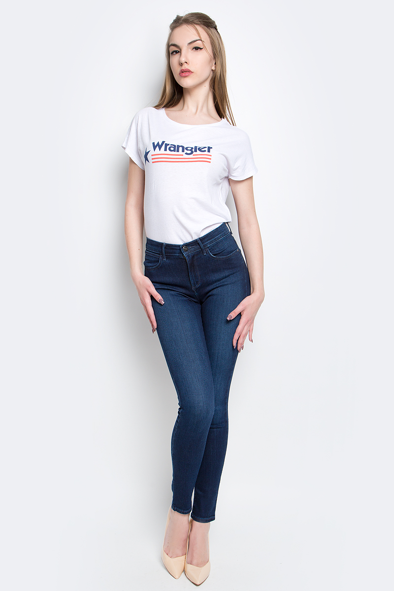 Джинсы женские Wrangler, цвет: темно-синий. W27HX786N. Размер 29-32 (44/46-32) sweet bob style short straight wine red full bang synthetic adiors wig for women