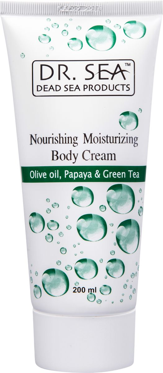 Dr.Sea Питательный и увлажняющий крем для тела с маслом оливы, экстрактамипапайи и зеленого чая, 200 мл238Идеальный уход, отвечающий потребностям любой кожи, особенно кожи, нуждающейся в обильном увлажнении и питании. Смягчает и укрепляет кожу, делает ее гладкой и упругой. В основе крема - высокая концентрация минералов Мертвого моря, масел оливы и папайи, экстракта зеленого чая, витаминов A, C, E, жирных кислот омега-3 и омега-6. Наносите ежедневно после водных процедур и всякий раз, когда кожа нуждается в увлажнении и питании. Подходит для любого типа кожи.Характеристики:Объем: 200 мл. Производитель: Израиль. Артикул: 138. Товар сертифицирован.