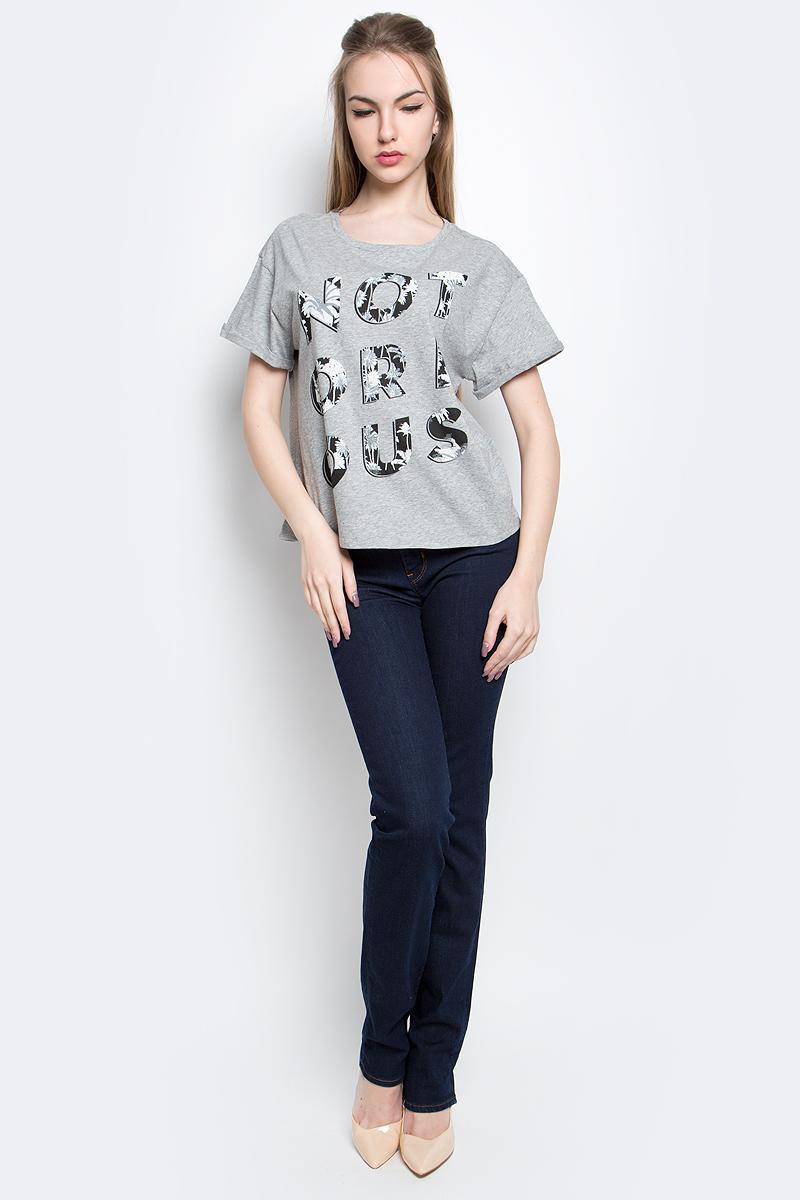 Футболка женская Lee Notorious, цвет: серый. L42VEV38. Размер S (42) женская футболка l