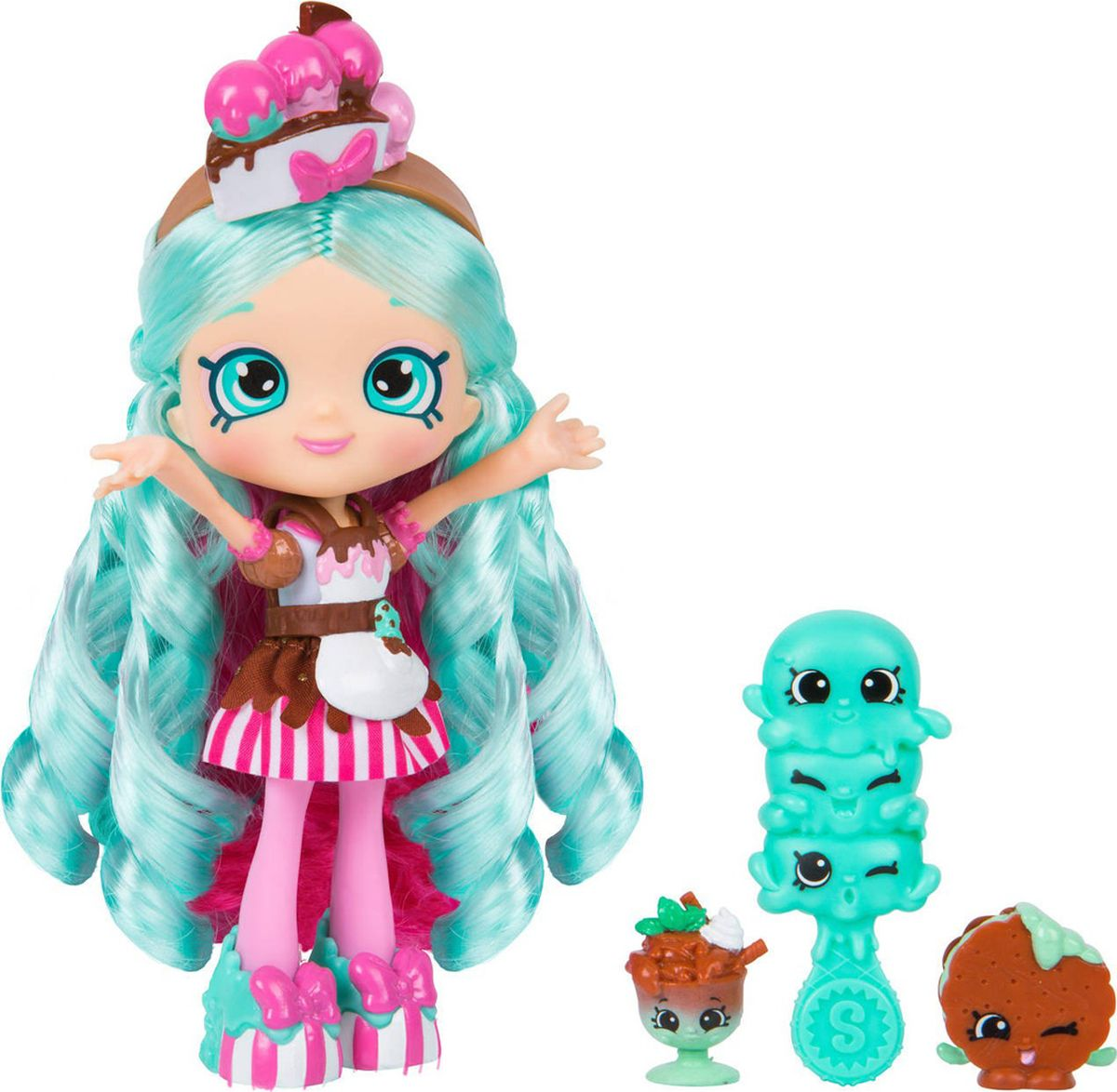 Shopkins Мини-кукла Shoppies Peppa Mint shopkins кукла попетта