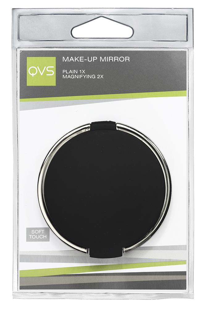 QVS Компактное зеркало для макияжа10-1269ЗЕРКАЛО ДЛЯ МАКИЯЖАДВУСТОРОННЕЕ: ОБЫЧНОЕ ИС 2-КРАТНЫМ УВЕЛИЧЕНИЕМКОРПУС С ПОКРЫТИЕМ SOFT TOUCHИдеальный размер для хранения в Вашей сумочке или косметичке. Вы можете поправить макияж в любой момент!УХОД: Регулярно протирайте зеркало, избегайте повреждения зеркальной поверхности.ХРАНИТЬ В НЕДОСТУПНОМ ДЛЯ ДЕТЕЙ МЕСТЕ