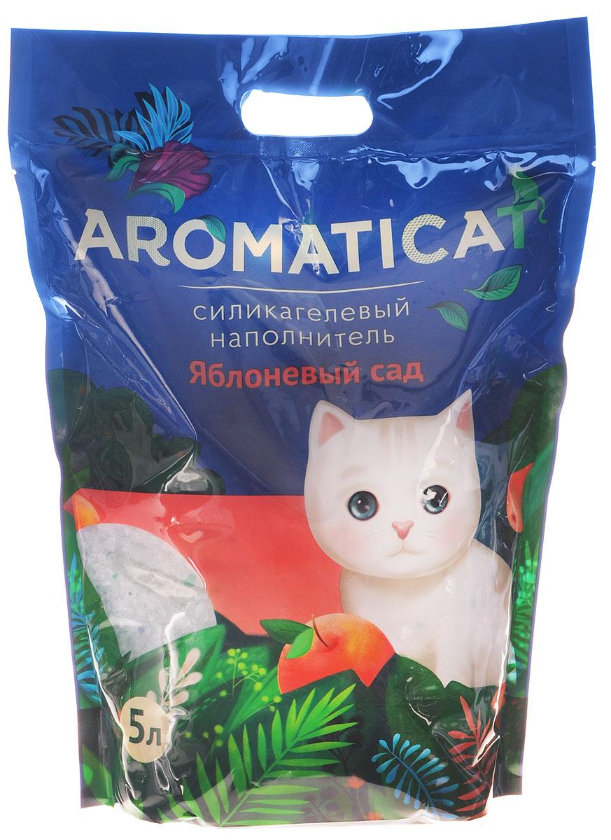 Наполнитель для кошачьего туалета Aromaticat Яблоневый сад, силикагелевый, с ароматом яблока, 5 л серьги dragon porter серьги яркие цветы