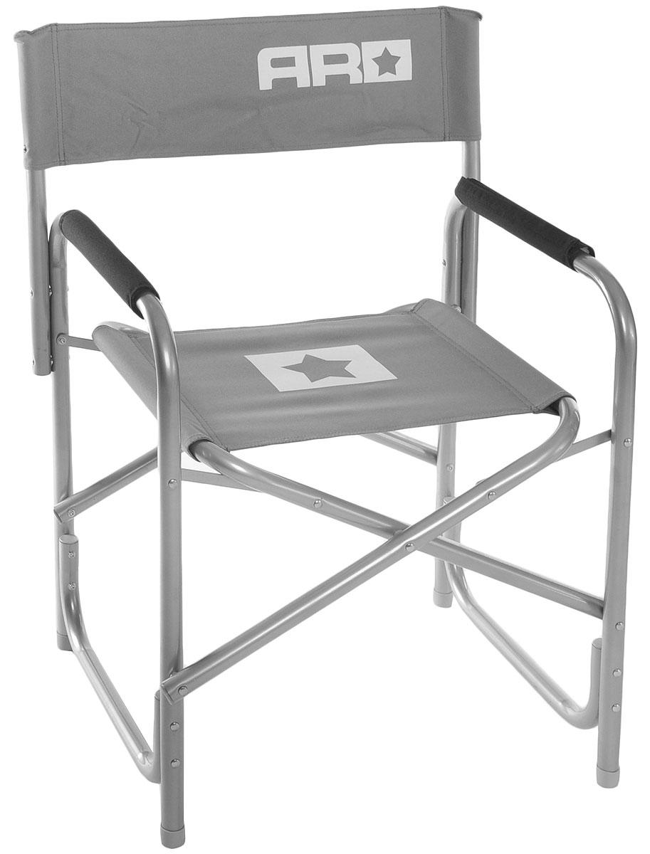 Стул складной Adrenalin Republic Captain Jack, цвет: серый, белый, 48 х 48 х 64 см стул складной bushido цвет синий 35 х 28 х 33 см