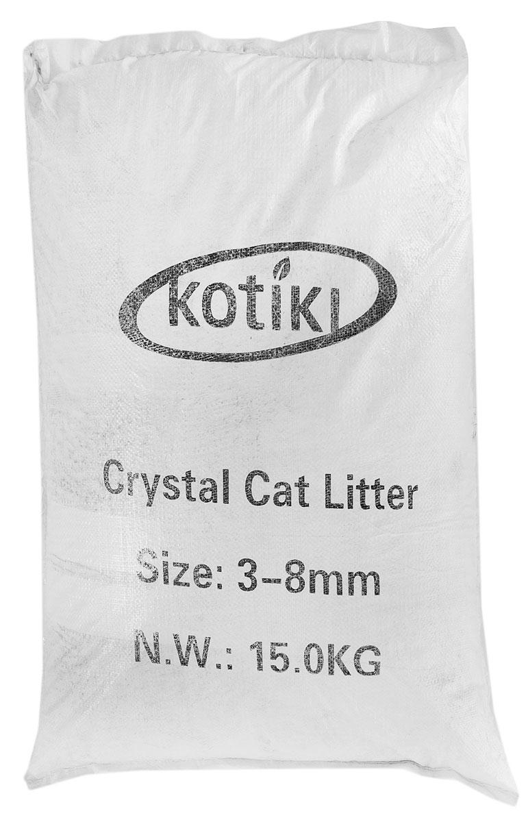 Наполнитель для кошачьего туалета Kotiki, силикагелевый, 35 л наполнитель для кошачьего туалета aromaticat классический силикагелевый 3 л