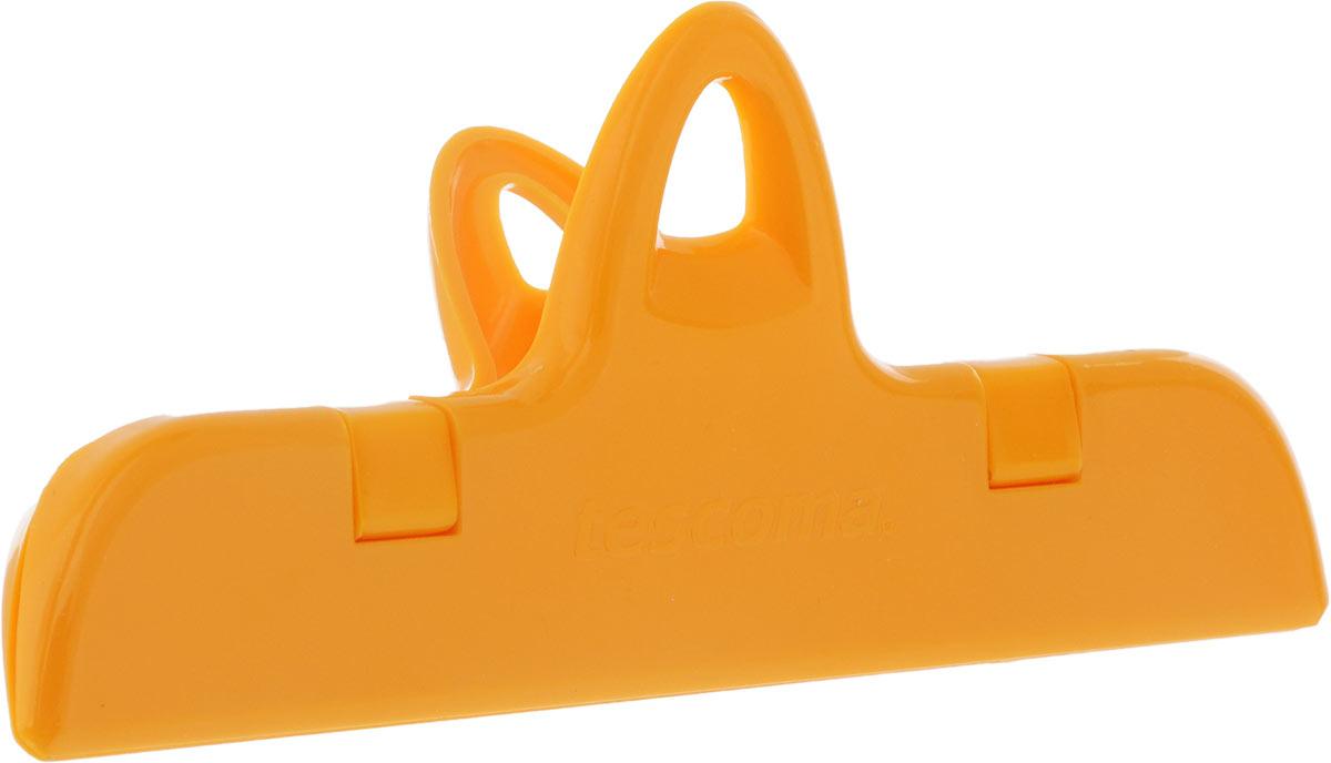 Клипса для пакетов Tescoma Presto, цвет: оранжевый, длина 14,7 см клипса tescoma presto 15см д пакетов пластик page 11