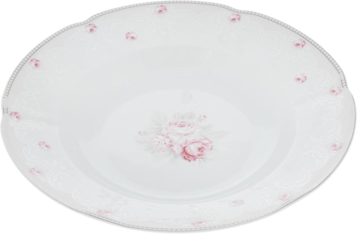 Тарелка глубокая Cmielow & Chodziez Bolero, диаметр 22,5 см0731490/G112Глубокая тарелка Cmielow & Chodziez Bolero, изготовленная из высококачественного фарфора с глазурованным покрытием, декорирована нежным цветочным рисунком. Такая тарелка украсит сервировку вашего стола и подчеркнет прекрасный вкус хозяина, а также станет отличным подарком.Диаметр тарелки (по верхнему краю): 22,5 см.Высота тарелки: 4 см.