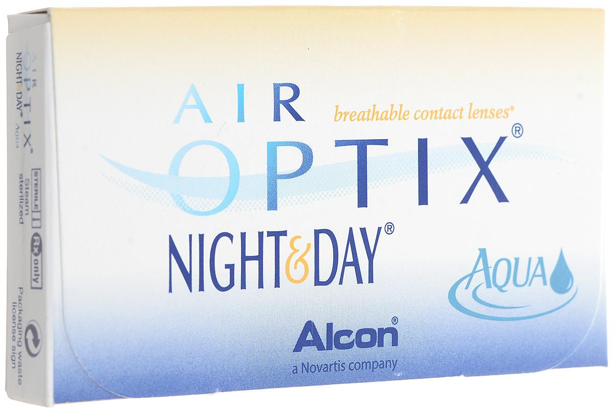 Alcon-CIBA Vision контактные линзы Air Optix Night & Day Aqua (3шт / 8.4 / -5.75)44363Само название линз Air Optix Night & Day Aqua говорит само за себя - это возможность использования одной пары линз 24 часа в сутки на протяжении целого месяца! Это уникальные линзы от мирового производителя Сiba Vision, не имеющие аналогов. Их неоспоримым преимуществом является отсутствие необходимости очищения и ухода за линзами. Линзы рассчитаны на непрерывный график ношения. Изготовлены из современного биосовместимого материала лотрафилкон А, который имеет очень высокий коэффициент пропускания кислорода, обеспечивая его доступ даже во время сна. Наивысшее пропускание кислорода! Кислородопроницаемость контактных линз Air Optix Night & Day Aqua - 175 Dk/t. Это более чем в 6 раз больше, чем у ближайших конкурентов. Еще одно отличие линз Air Optix Night & Day Aqua - их асферический дизайн. Множественные клинические исследования доказали, что поверхность линз устраняет асферические аберрации, что позволяет вам видеть более четко и повышает остроту зрения. Ежемесячные контактные линзы Air Optix Night & Day Aqua характеризуются низким содержанием воды. Именно это позволяет снизить до минимума дегидродацию. В конце дня у вас не возникнет ощущения сухости глаз или дискомфорта. С ними вы сможете наслаждаться жизнью. Контактные линзы Air Optix Night & Day Aqua смогли доказать, что непрерывное ношение линз - это безопасный и удобный метод коррекции зрения! Характеристики:Материал: лотрафилкон А. Кривизна: 8.4. Оптическая сила: - 5.75. Содержание воды: 24%. Диаметр: 13,8 мм. Количество линз: 3 шт. Размер упаковки: 9 см х 5 см х 1 см. Производитель: США. Товар сертифицирован.Контактные линзы или очки: советы офтальмологов. Статья OZON Гид