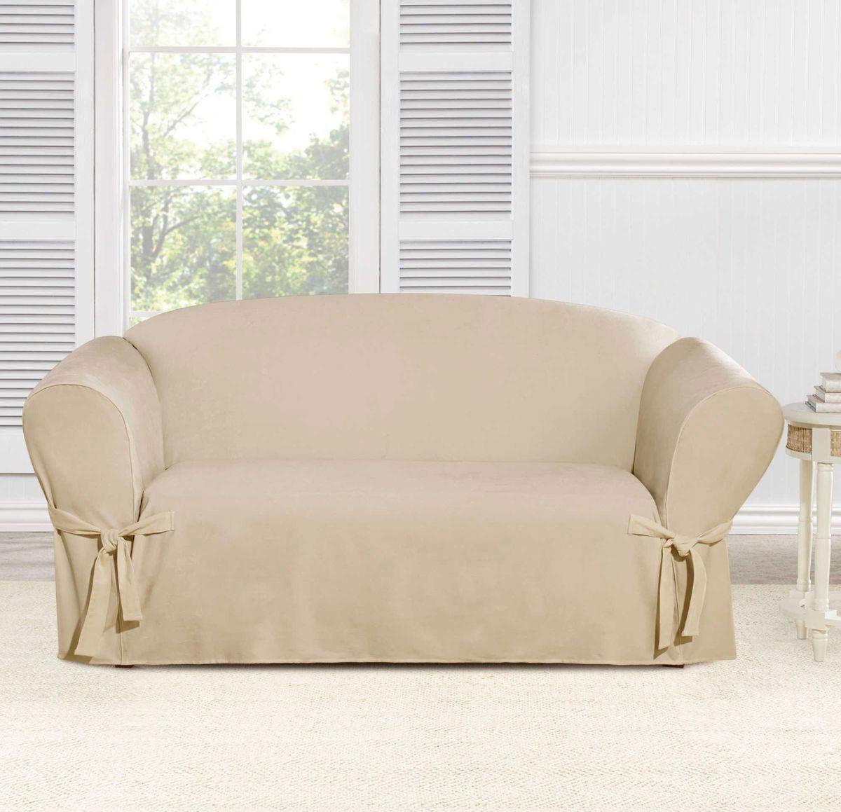 Чехол на двухместный диван Медежда Брайтон, цвет: бежевый1402011203000Чехол на двухместный диван Медежда Брайтон изготовлен из качественного материала на основе хлопка и полиэстера. Чехол не эластичен, но хорошо принимает форму дивана. Подходит для диванов с шириной спинки от 145 до 185 см. Благодаря классической однотонной расцветке чехол легко гармонирует почти со всеми палитрами цвета и любым типом интерьера. Изделие украсит вашу гостиную и создаст комфорт и уют в доме. Чехол очень удобен и прост в установке. Чехлы на мебель Медежда универсальны и подходят на большинство моделей мебели. Такова особенность кроя изделий свободного стиля или тянущегося материала стрейч стиля. Основное значение при подборе имеет только ширина спинки.