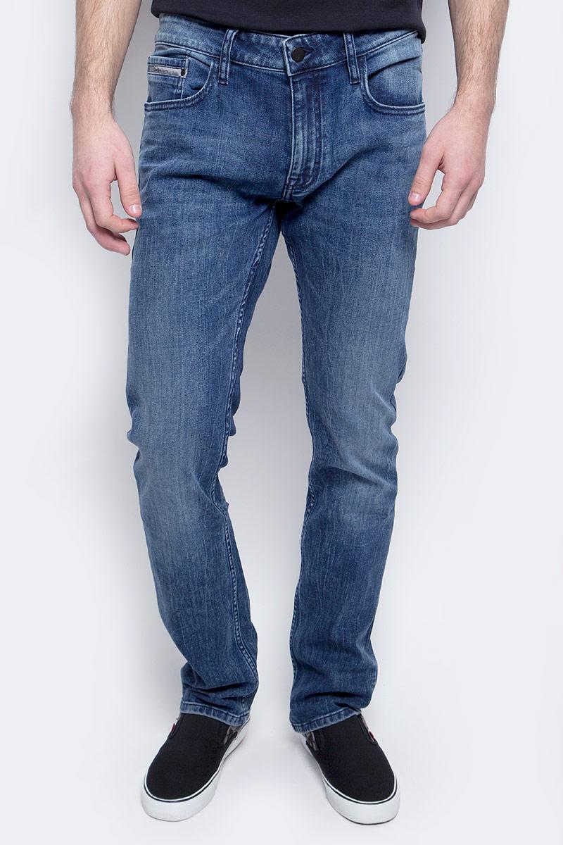 Джинсы мужские Calvin Klein Jeans, цвет: синий. J30J304296_9114. Размер 33-34 (50/52-34) джинсы мужские calvin klein jeans цвет синий j30j306636 9114 размер 30 44 46