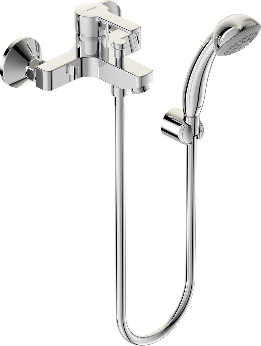 Смеситель для ванны и душа Vidima Уно, излив 95 ммBA238AAСмеситель для ванны и душа Vidima Уно имеет корпус и излив из 100% латуни. Изделие устанавливается на стену. Система облегченного монтажа SmartFix обеспечивает комфорт во время установки и надежность эксплуатации. Монтаж производится на стандартных эксцентриках (в комплекте: эксцентрики, металлические отражатели, уплотнительные прокладки). Смеситель снабжен литым изливом и аэратором Perlator. Металлическая рукоятка имеет систему защиты от нагревания Comfort Touch и индикатор холодной/горячей воды. Душевой гарнитур в комплекте (душевая лейка, металлический шланг, держатель для лейки). Переключение ванна/душ ручное. Возможность использовать функцию душ даже при очень низком давлении воды. Технические характеристики: Расстояние от стены до аэратора: 157 мм. Керамический картридж: 35 мм. Диаметр душевой лейки: 70 мм. Длина шланга: 150 см.