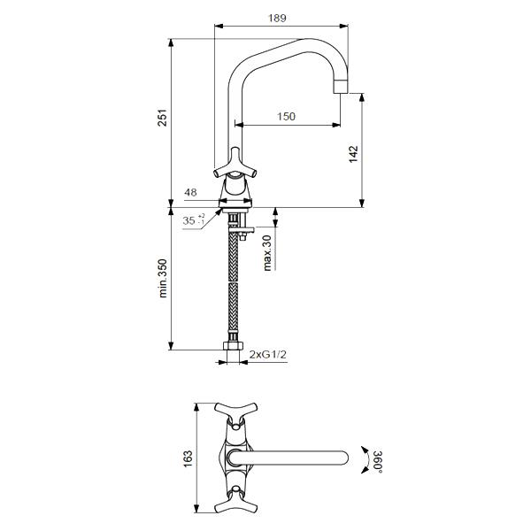 """Смеситель для умывальника Vidima """"Тринити"""" изготовлен из высококачественной латуни. Инновационные технологии литья и обработки латуни, а также увеличенная толщина стенок смесителя обеспечивают его стойкость к перепадам давления и температур.  Покрытие полностью соответствует европейским стандартам качества, обеспечивает его стойкость и зеркальный блеск в течение всего срока службы изделия. Смеситель имеет гибкую подводку."""